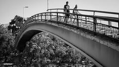 puente Racamalac (EYC Fotografa) Tags: bridge blancoynegro puente pareja padlocks candados