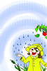 winter time (nada.musleh) Tags: winter apple girl rain illustration happy coat raincoat مطر شتاء رسم فتاة معطف ندىمصلح nadamusleh معطفالمطر