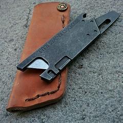 Rexford RUT leather sheath (edcbyfrank) Tags: leather edc titanium v1 everydaycarry rut sheath rexford utilityblade rexfordrut