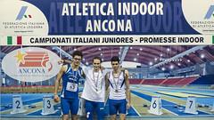 Nicola Cesca e il podio dei 60hs junior