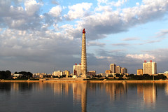 Juche Tower in Pyongyang North Korea.jpg (Traveloscopy) Tags: city people tower architecture republic north korea ideal democratic pyongyang russianfederation juche