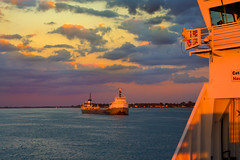 MOUVEMENTS - MOVEMENTS (BLEUnord) Tags: sunset sky orange canada ferry canon river boats eos rebel golden soleil cloudy ships coucher traverse tracy bateaux manitoba ciel hour stlawrence stlaurent bateau goldenhour coucherdesoleil heure fleuve sorel partlycloudy provincedequbec nuageux traversier dore t4i soreltracy partlly stignacedeloyola heuredore partiellement partiellementnuageux