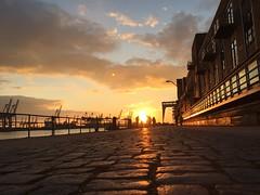 Best winter light @Hamburg (Felis Images) Tags: sunset people backlight germany deutschland harbor harbour walk hamburg backlit elbe gegenlicht spaziergang iphone6