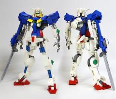 Gundam GN001 Exia Lego F/R (anchifez) Tags: mobile robot lego suit f gundam gn mecha mech setsuna seiei gundamtype