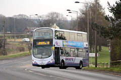 First 37232 YN57 RJZ Hatfield 27th February 2016 (1) (asdofdsa) Tags: bus buses transport busstop passengers hatfield jubileebridge firstbus firstsouthyorkshire firstdoncaster 27thfebruary2016