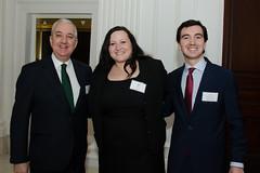 Primark's Jose Luis Martinez de Larramendi with son Inigo and Leslie Alcock