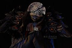 Hellboy` Death (mrs.Melenka) Tags: monster movie death scary wings doll ooak character fantasy custom calaveras hellboy repaint melenka monsterhigh skelita