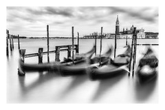 Venice (don't count the pixels) Tags: longexposure venice italy water monochrome movement canals gondolas ndfilters laserenissima blackaandwhite bwfilters longexposurewater silverefexpro 10stopfilter