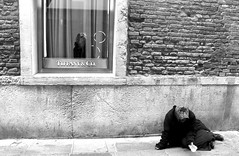 Black and white: the faces of society (caterina.begliorgio) Tags: city venice people blackandwhite bw italy black streets water walking photography italian italia streetlife wanderlust society wandering wanderer streetview hopeless canonphotos