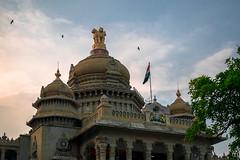 Le parlement du Karnataka (- Ali Rankouhi) Tags: india bangalore parliament vidhana soudha