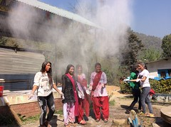 Playing with colors (rukmini_foundation) Tags: nepal colors celebration holi didi mentoring