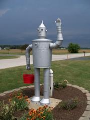 OH Celina - Tin Man (scottamus) Tags: ohio vent robot celina pipe creature tinman muffler mercercounty