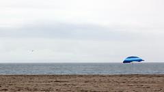 Semsiye (asliakal) Tags: california santa color beach umbrella canon losangeles monica lonely 550d t2i