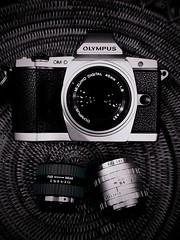 Compact 3 lens kit for OM-D (a.pierre4840) Tags: camera blackandwhite bw monochrome noiretblanc f14 olympus f18 11mm 45mm omd 25mm schneider kreuznach f19 em5 samsungs2 xenoplan slrmagic