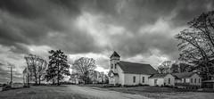 Oak Grove Christian Church_BW (Bob G. Bell) Tags: bw storm church clouds virginia chatham fujifilm oakgrove xm1 bobbell pittsylvania oakgrovechristianchurch