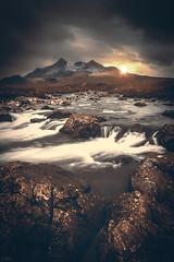 Morning at Mordor (Iain Brooks) Tags: morning sunset storm mountains skye water lines sunrise river landscape scotland nikon long exposure scottish iain 20mm nikkor cuillins isle leading brooks sunstar sligachan d610 18g iainbphoto
