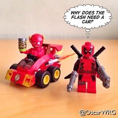 #LEGO #Deadpool #Mini #Flash #TheFlash #PowerBolt #MarvelVsDC #Marvel #DCcomics #DC @Marvel @DCcomics @lego_group @lego @vancityreynolds @bricksetofficial @bricknetwork @brickcentral (@OscarWRG) Tags: dc lego flash mini dccomics marvel theflash marvelvsdc deadpool powerbolt