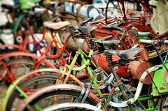 Rickshaws in Yogya (Explore #300 on Apr 22, 2016) (NoDurians) Tags: indonesia java tricycle explore yogyakarta yogya rickshaw bicyle rikscha