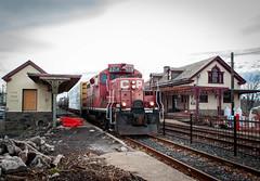 Souderton Station 12-28-15 (Daniel J. Kirby) Tags: red pacific pennsylvania rail canadian pa cp northeastern souderton danieljkirbyphotography