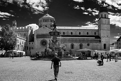 marching thru the square (Andrea Missinato) Tags: street urban blackandwhite bw italy church monochrome square temple europe places indoor trento trentino biancoenero geolocation piazzaduomo trentinoaltoadige geocity geo:state=trentinoaltoadige exif:make=sony geocountry camera:make=sony exif:aperture=ƒ71 exif:isospeed=100 exif:focallength=17mm camera:model=ilca77m2 exif:model=ilca77m2 exif:lens=dt1750mmf28 cattedraledisvigilio
