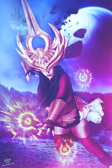 Justicar Syndra (rubenfcid) Tags: portrait woman girl photoshop cosplay lol magic fantasy montage second knight cosplayer justicar leagueoflegends syndra justicarsyndra
