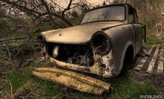 R351574N7 (endsilence) Tags: old light sunset abandoned car lost rust sundown ddr zwickau gdr trabant veb resistant