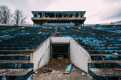 Rubber Bowl (shannxn) Tags: ohio urban abandoned football stadium decay bowl rubber zips exploration akron urbex univerty