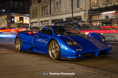 Zonda (Banaham Photography) Tags: longexposure money streets london boys beautiful car speed toy photography photographer power awesome rich like automotive follow beast parked spotted dope mph supercar share zonda loaded stance viral pagani lighttrail bhp spotter