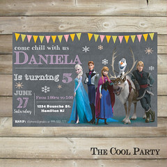 Frozen birthday invitation,Frozen invite, card ,Frozen party printable,Frozen Birthday Invitation, first birthday, 1st birthday invitation (The Cool Party) Tags: birthday party paper poster olaf frozen 1st invitation supplies chalkboard invite invitations announcements printable