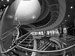 Confusing Curves (CVerwaal) Tags: nyc usa ny newyork architecture subway fultoncenter olympusem5 lumix8mmf35