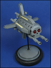 The Can3vil Corsair (Karf Oohlu) Tags: skull lego spaceship moc 3vil microscale desktoptoy microspacetopia