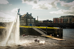 Fly boarding in the Shannon. (Val Beegan) Tags: ireland sports river action watersports jetski riverfest limerickcity shannonriver wateraction flyboarding riverfest2016
