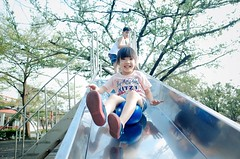 Super Skill ( aikawake) Tags: old school holiday game tree cute green love nature smile kids ball naughty children happy skull kid spring funny child play outdoor 4 warmth atmosphere happiness slide super laugh littlegirl years ricohgr taiwanese kidz blance vocation skill         littlechild