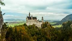 Schloss Neuschwanstein (ArkiWilfred) Tags: travel sky castle forest landscape bavaria photography scenery horizon country scenic tourist neuschwanstein wurope