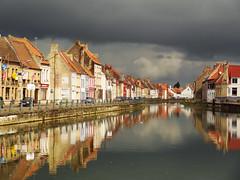Soleil et nuages à Saint-Omer, Canal du Haut-Pont