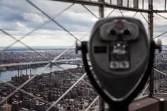 Binoculars at the Empire State (Steven J Parkes) Tags: nyc newyorkcity urban newyork manhattan binoculars empirestatebuilding empirestate shallowdepthoffield viewfromabove nycfromuphigh