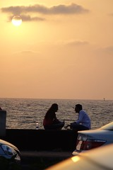 Worli Sea Face - Mumbai 01 (Rajesh_India) Tags: sunset india love evening mumbai worli seaface