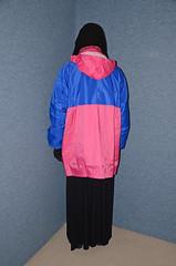 Rain jacket and rubber boots (Buses,Trains and Fetish) Tags: winter girl warm boots coat hijab sweat niqab rainwear anorak slave burka chador