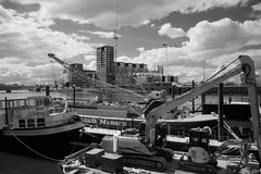 _1110553 (cospic7) Tags: london industry architecture river construction crane engineering cranes infrared riverthames barge wandsworth pontoon wandsworthbridge