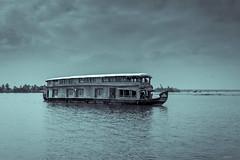 The house boat ([s e l v i n]) Tags: bw india houseboat kerala backwaters allepy allapuzha backwatersofkerala keralatourism keralatravel allepybackwaters picturesofkerala selvin