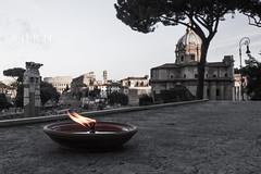 B  U  R  N (leodamico77) Tags: italy rome roma canon landscape fire italia raw candle flame foriimperiali candela fuoco colosseo fiamma vittoriano canon5dmkii