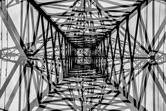 Photographic abstract double exposure pylon (Justin Barrie Kelly) Tags: blackandwhite bw abstract geometric lines triangles photography doubleexposure abstractart modernism pylon abstraction geometrical ironwork girders constructivist triangular blackandwhitephotography constructivism superimposed civilengineering jupiter8 geometricshapes overlapping objectphotography nonobjectiveart avantgardephotography incameradoubleexposure modernistphotography jbkelly justinbkelly justinbarriekelly fujixa1