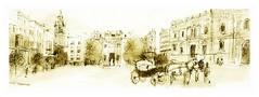 Svilla - Andalucia - Espaa (guymoll) Tags: espaa sketch spain panoramic andalucia wash espagne sville draft andalousie bic panoramique croquis bauche svilla