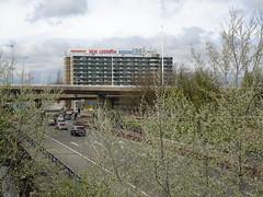 """Rotterdam: """"Kleinpolderpleinpark"""" (harry_nl) Tags: netherlands rotterdam highway nederland flyover snelweg buizen a13 2016 kleinpolderplein vanleeuwen"""