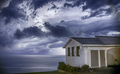 Stormy Sky (Danny VB) Tags: summer lightning storm house longexposure august sky clouds light ocean water reflection stormy atlantic quebec gaspeise canada canon eos 6d stormysky nuage nuages
