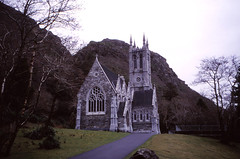 Neo-Gothic Chapel, Kylemore (demeeschter) Tags: ireland lake mountains galway church nature abbey landscape lough gothic chapel connemara kylemore