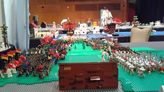 Finally done for brick Can 2016! (Auz The Wizard) Tags: horse tree brick castle water field bush war king lego display good pirates helmet attack evil battle can pirate sword assemble axe knight plain spear 2016 barding brickcan