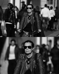 [La Mia Citt][Pedala] (Urca) Tags: portrait blackandwhite bw bike bicycle italia milano bn ciclista biancoenero mir bicicletta 2015 pedalare dittico 82264 nikondigitale ritrattostradale