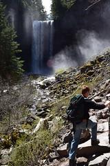 Scampering at Tamanawas Falls (Catgirrrl) Tags: water oregon hike april mounthood 2016 tamanawasfalls