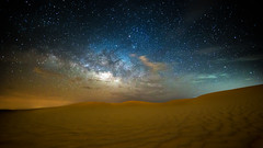 A Cloudy Milky Way (wissow) Tags: longexposure sky nature skyline night stars landscapes colorful desert galaxy abudhabi astronomy universe nightscapes milkyway razin
